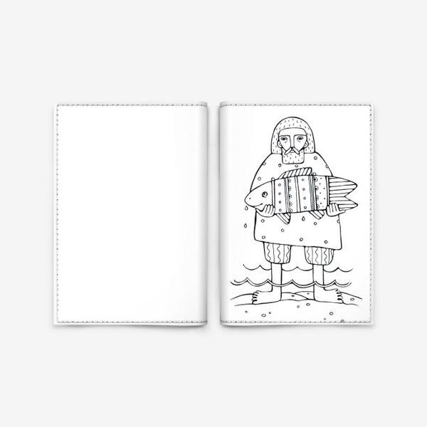 Обложка для паспорта «рыбак»