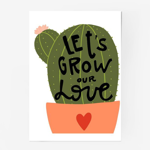 Постер «lets grow our love»