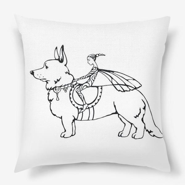 Подушка «корги- собака эльфов»