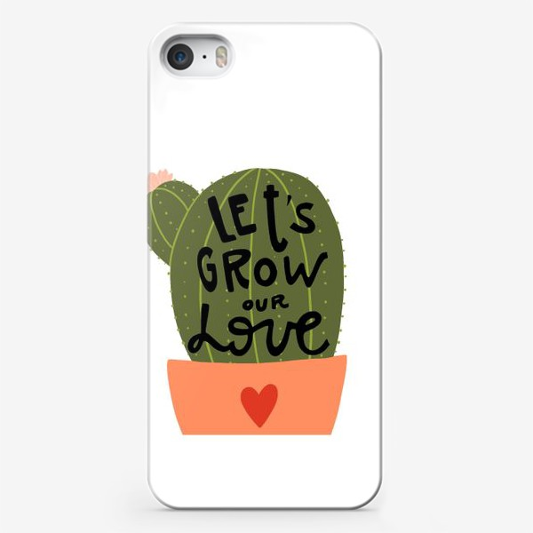 Чехол iPhone «lets grow our love»