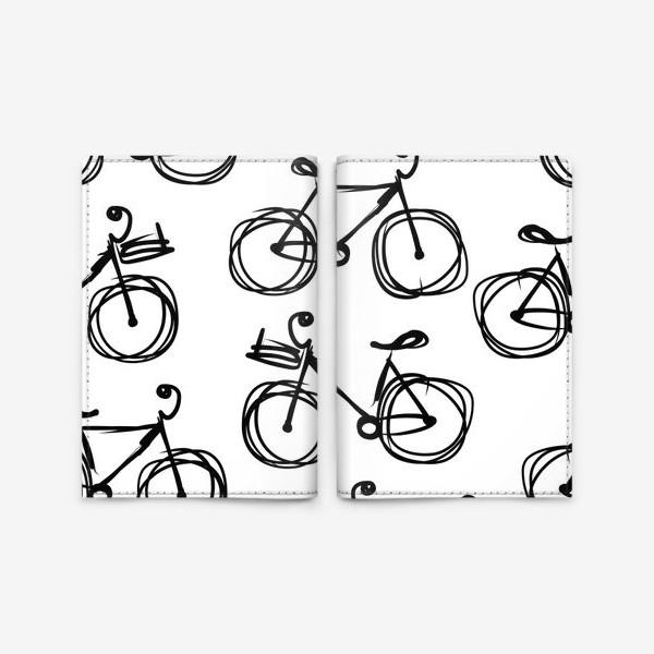 Обложка для паспорта «Seamless bicycle»