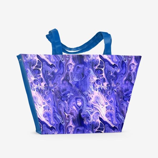Пляжная сумка «Абстракция жидкий акрил 9»