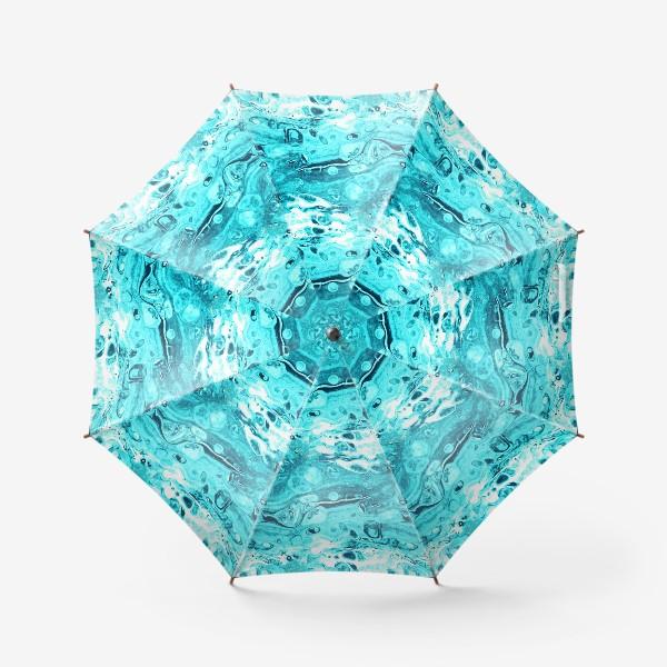 Зонт «Средиземное море (жидкий акрил 8)»