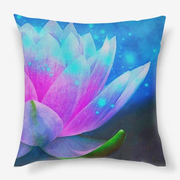Подушка «Мистический цветок лотоса»