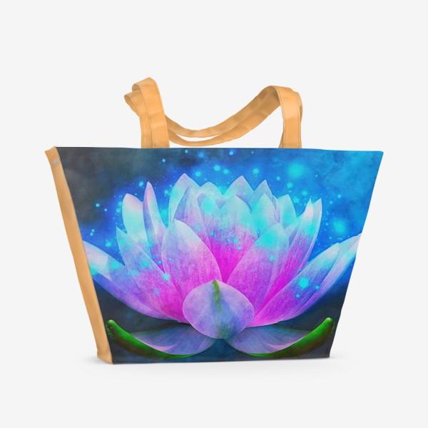Пляжная сумка «Мистический цветок лотоса»