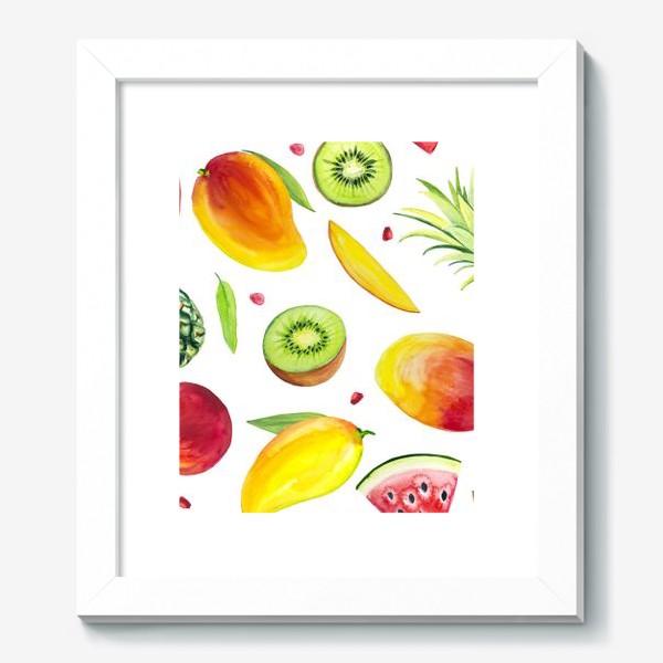 Картина «Узор из фруктов акварель»