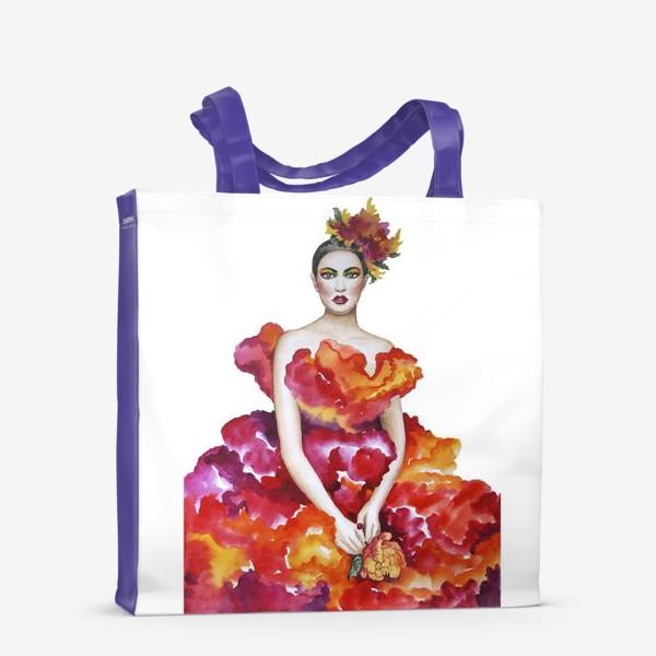 Сумка-шоппер «Девушка-Осень»