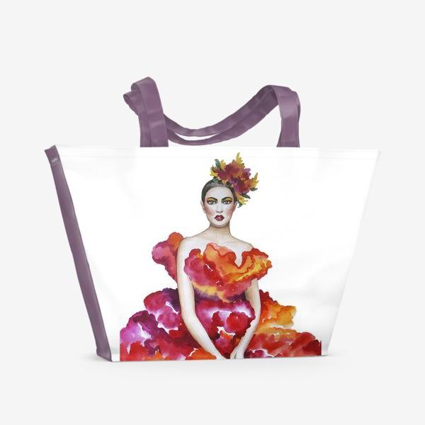 Пляжная сумка «Девушка-Осень»
