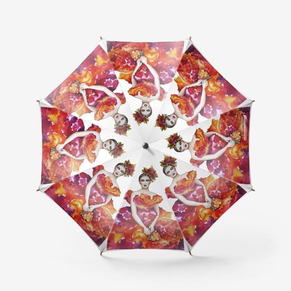 Зонт «Девушка-Осень»