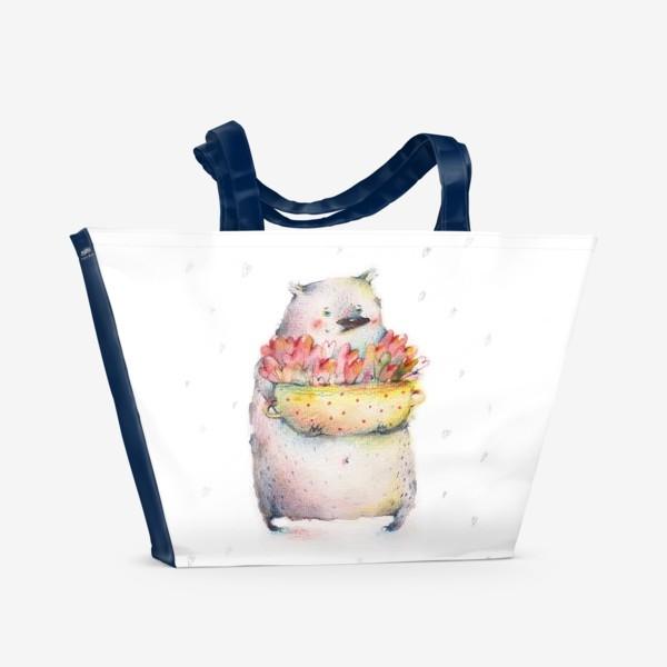 Пляжная сумка «Кастрюля, полная любви»