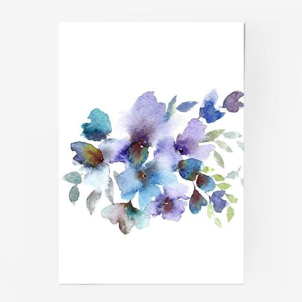Постер «Blue flowers»