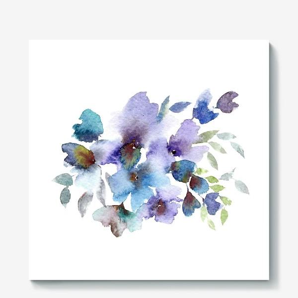 Холст «Blue flowers»