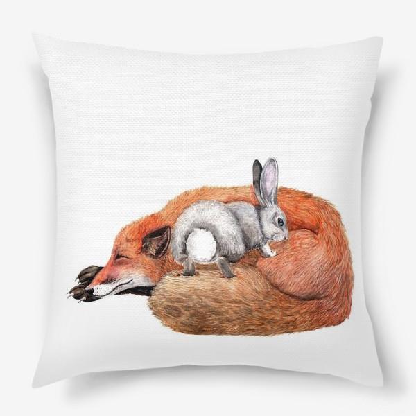 Подушка «Заяц и лиса»