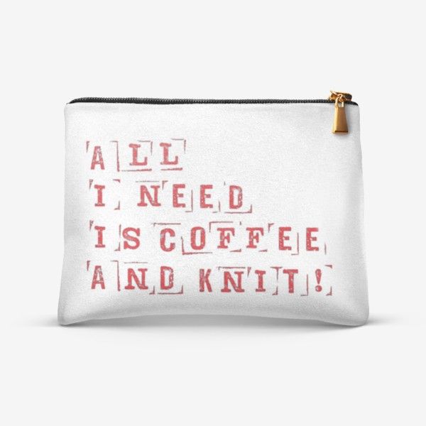 Косметичка «All I need is coffee and knit (red)»