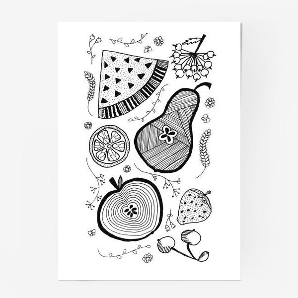 Постер «фруктовый салат»