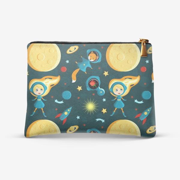 Косметичка «Маленькая Принцесса с Лисом и Розой в космосе»