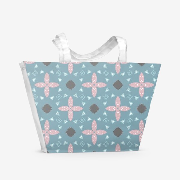Пляжная сумка «Скандинавские мотивы. Бесшовный паттерн»