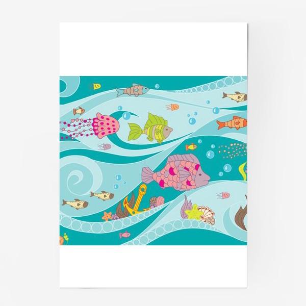 Постер «морская жизнь»