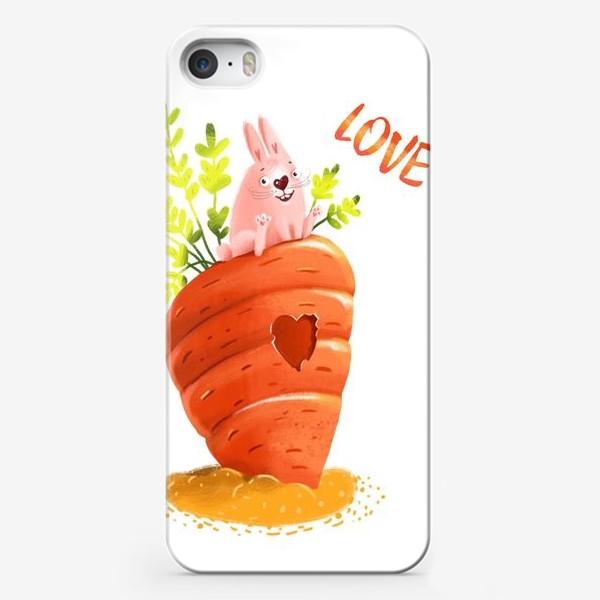 Чехол iPhone «Любовь- морковь»