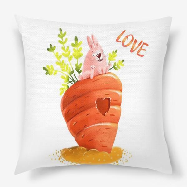 Подушка «Любовь- морковь»