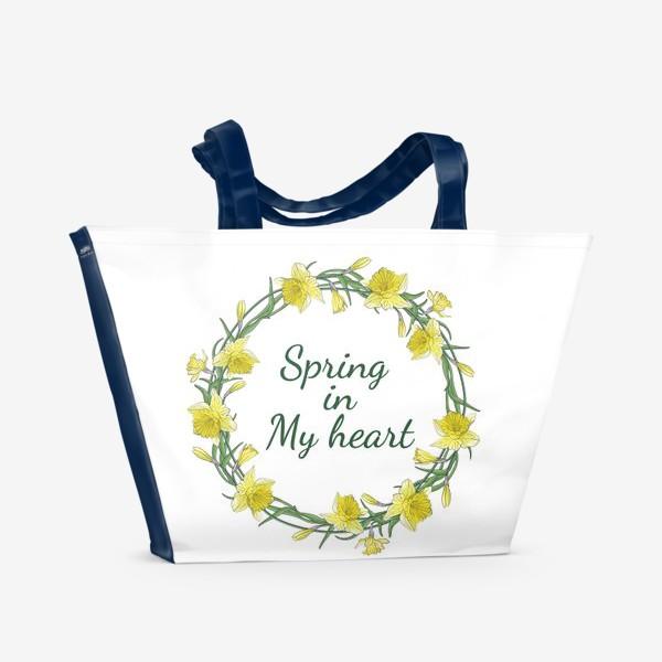 Пляжная сумка «Весенние нарциссы»