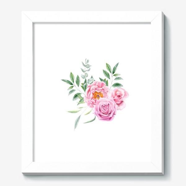 Картина «Акварельный букет с розами»