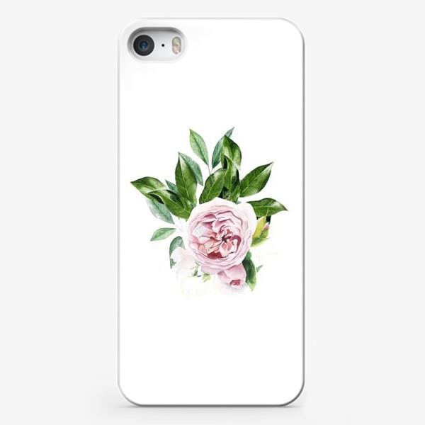 Чехол iPhone «Акварельная роза Остин»