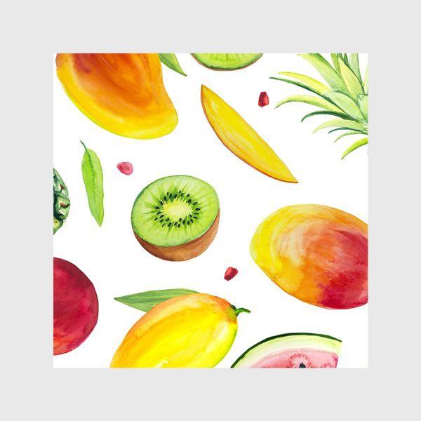 Шторы «Узор из фруктов акварель»