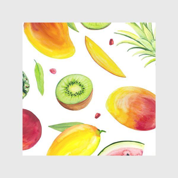Скатерть «Узор из фруктов акварель»