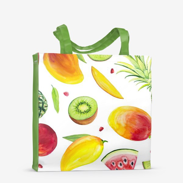 Сумка-шоппер «Узор из фруктов акварель»