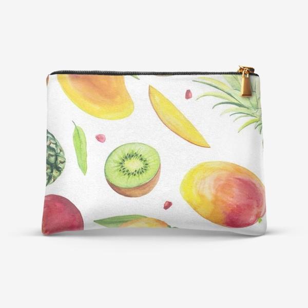 Косметичка «Узор из фруктов акварель»