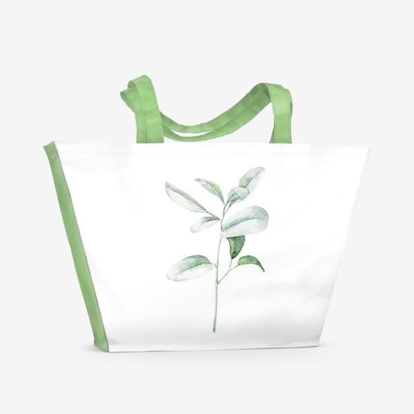 Пляжная сумка «Акварельная веточка»