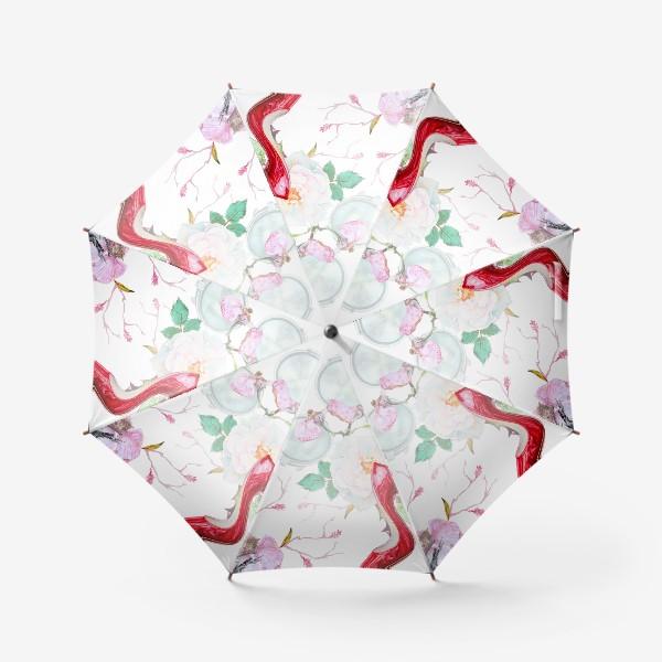 Зонт «Фэшн. Женские туфли и розы»