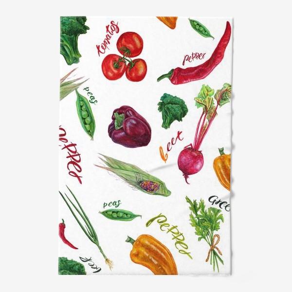 Полотенце «Акварельные овощи»