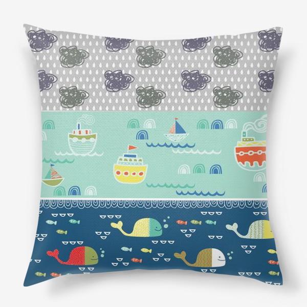 Подушка «морской пейзаж»