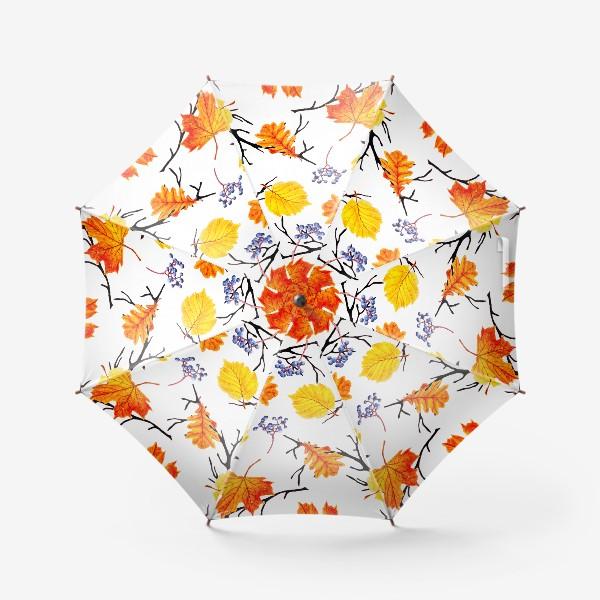 Зонт «Осенние листья и дикий виноград»