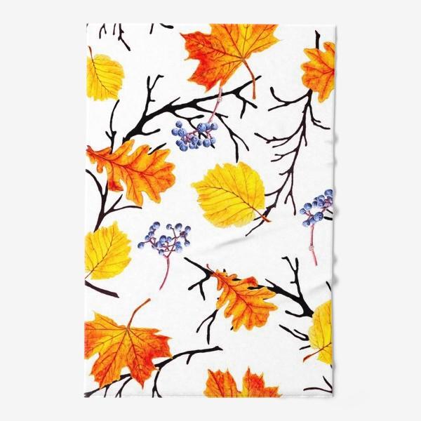 Полотенце «Осенние листья и дикий виноград»