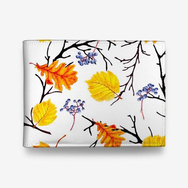 Кошелек «Осенние листья и дикий виноград»