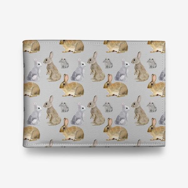Кошелек «Кролики и горошек »
