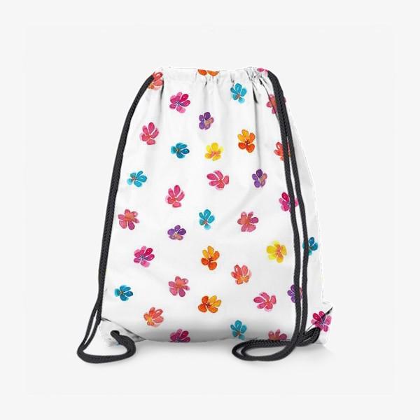 Рюкзак «Паттерн с акварельными цветами»
