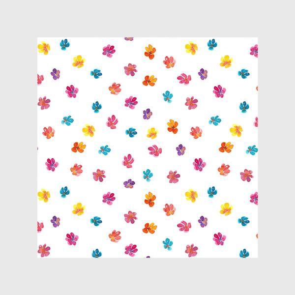 Шторы «Паттерн с акварельными цветами»