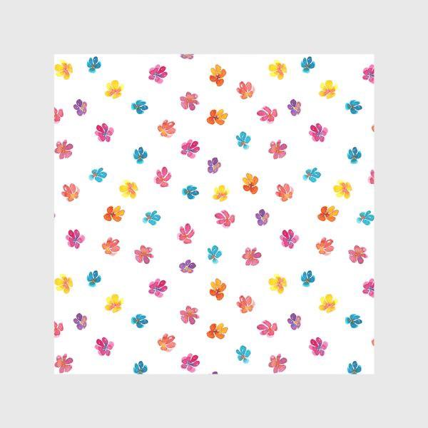 Скатерть «Паттерн с акварельными цветами»