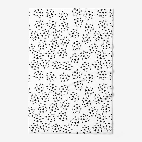 Полотенце «Паттерн с треугольниками - дудлами»