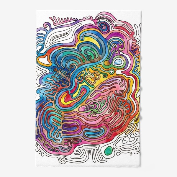 Полотенце «Watercolor Doodle»