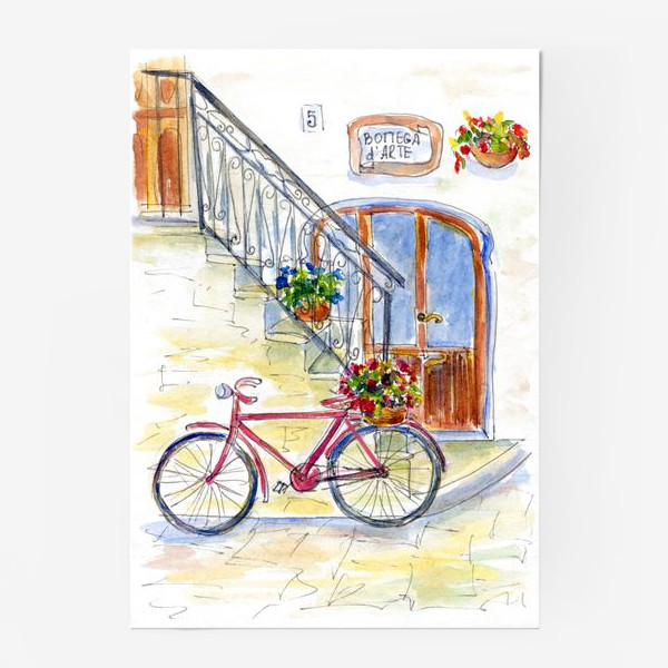Постер «Цветочный велосипед»