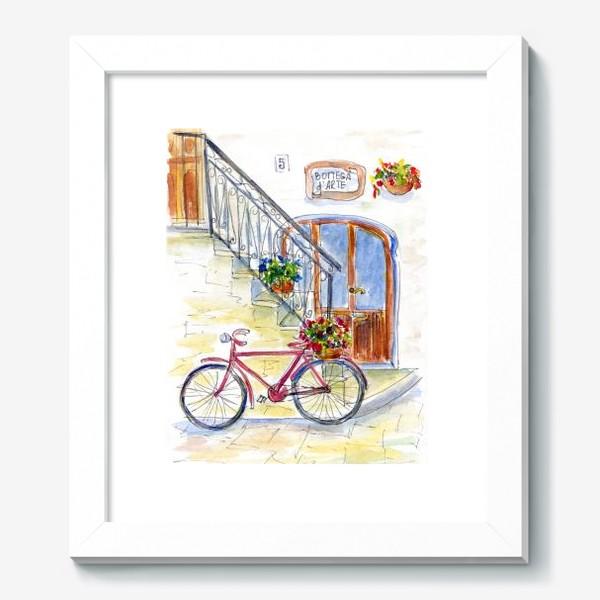 Картина «Цветочный велосипед»