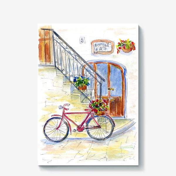 Холст «Цветочный велосипед»