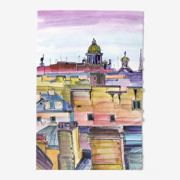 Полотенце «Крыши Петербурга»