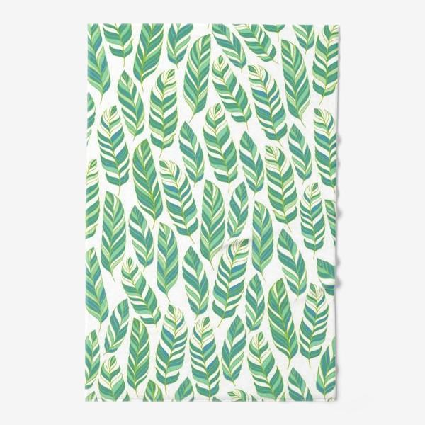 Полотенце «Тропические листья.»