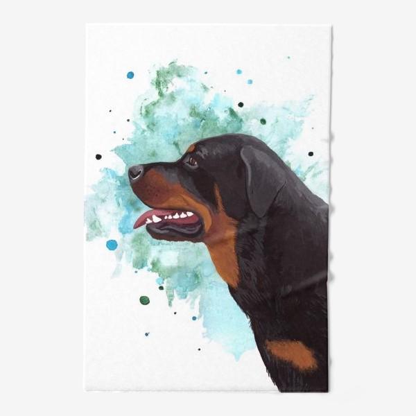 Полотенце «Собака Ротвейлер»